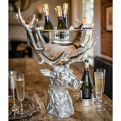 Large Punch Bowl with Stag Stand - Single - Punch Bowls, Wine Coolers, Champagne
