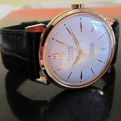 NEW OLD STOCK Vintage ROYCE AUTOMATIC Mens watch SWISS MADE 1960s-MINT
