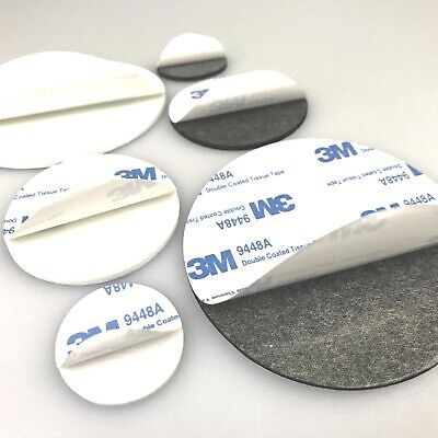 3M 9448A Double Sided Circle EVA Foam Black & White Pad Self Adhesive Round Coin