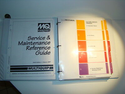 Mq Multiquip Generators Welders Roller Pump Service Training Maintenance Manuals