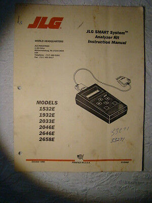 Jlg Smart System Analyzer Kit Instruction Manual 1532 1932 2033 2046 2646 2658E