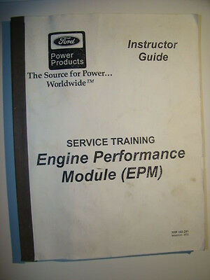 Ford Service Training Manual Engine Performance Epm Module Fpp-193-251 For Jlg