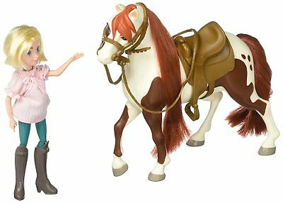 Just Play Spirit Riding Free Small Doll & Collector Horse Set - Abigail and