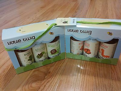 Lot of 2 NEW Little Twig Organic Baby Wash Essentials Gift Set Unscented Natural