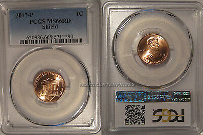 2017 P Lincoln SHIELD Cent 1c PCGS MS66RD