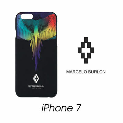 Cover Marcelo Burlon Milan Apple Iphone 7 Eva Piume Multicolore New Fw17