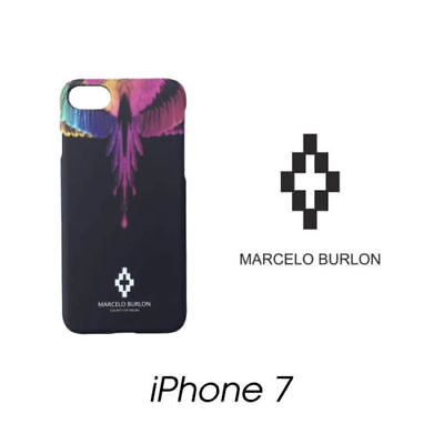 Cover Marcelo Burlon Milan Apple Iphone 7 Piume Multicolor New Fw17