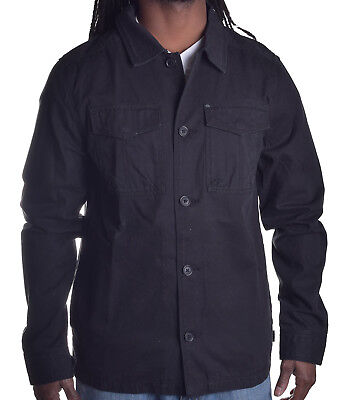 Quiksilver Men's Cover Black Button Up Jacket Choose Size