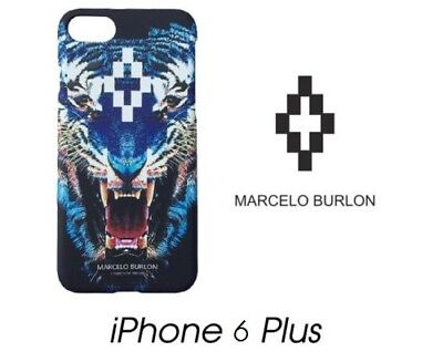 Cover Marcelo Burlon Milan Apple Iphone 6/6S Plus Tigre Blu New Fw17