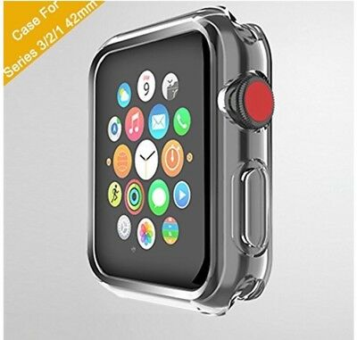 GEOTEL Apple Watch 42 mm Protective Case Screen Cover Clear New Series 1 2 3