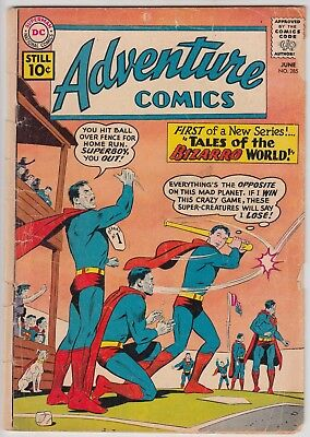 ADVENTURE COMICS #285 DC COMICS FR/GD CONDITION 1st TALES OF THE BIZARRO WORLD