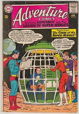 Adventure Comics #321 Dc Comics Gd Condition Legion Of Super-Heroes