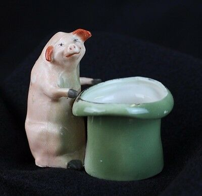 Antique German Porcelain Pink Pig Fairing PRICE REDUCED
