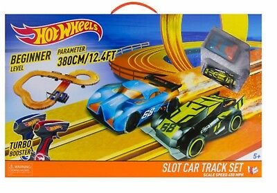 Hot Wheels Slot Car Race Track Set Beginner Level Big Ages 5+ New Toy Play Boys
