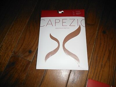 Capezio Hold &  Stretch footless tights sz Lg 1 pair NEW style 140 Suntan