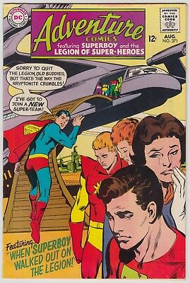 ADVENTURE COMICS #371 DC COMICS FN COND 1st CHEMICAL KING LEGION OF SUPER-HEROES