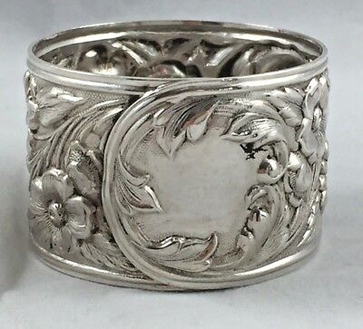 """Repousse by Kirk & Son Large Sterling Full Chased Napkin Ring(s) #28 - 1 1/4"""""""