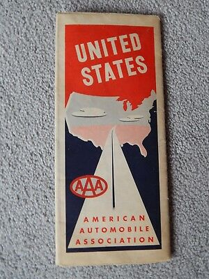 1954 Vintage American Automobile Association (AAA) United States Road Map