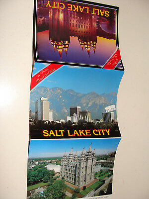 Slt Lake City Utah souvenir folder 14 views photo strip