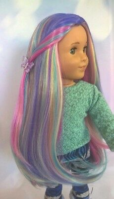 "10-11 Custom Doll Wig fit Blythe-American Girl-1/4 Size Dol ""Saturn's Rings"" bn5"