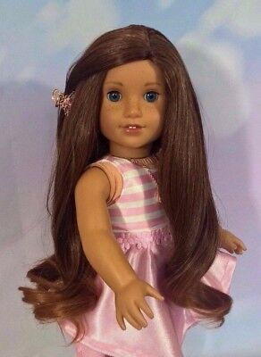 "10-11 Custom Doll Wig fit Blythe-American Girl-1/4 Size ""Chocolate Toffee"" bn5"