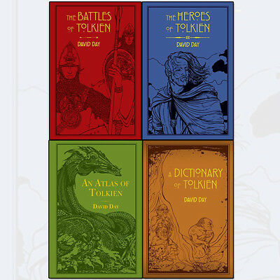 David Day Tolkien Collection 4 Books Set Battles of Tolkien, Heroes of Tolkien