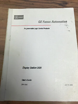 GE FANUC Automation - Discplay Station 2020 - User's guide
