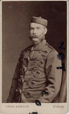 Carte De Visite Officer ? serving with unknown Yeomanry Regiment Stirling photo