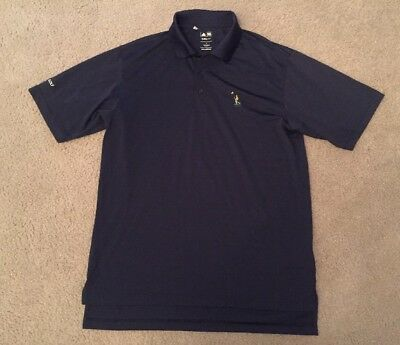 ADIDAS Men's Climalite Navy Blue Polo Athletic Polyester Golf Shirt sz Small