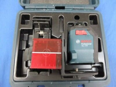 Bosch GLL 2-20 360-Degree Self-Leveling Line and Cross Laser Kit