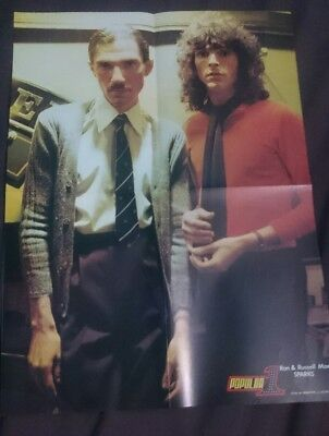 P2 Sparks Ron Rusell Mael Poster Magazine Revista Popular 1 70's 80's Very Rare