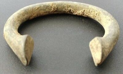 "Manilla slave bracelet money, Over 2 1/2"" across, 300 years old"