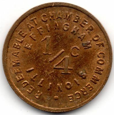EFFINGHAM, ILL. *** ¼¢ *** Tax Token