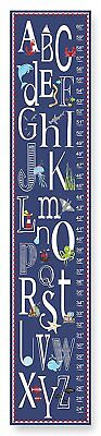 The Kids Room by Stupell Blue A is for Anchor Alphabet Growth Chart