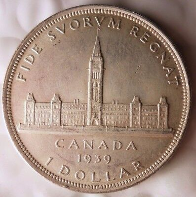 1939 CANADA DOLLAR - RARE DATE/TYPE -HIGH GRADE BIG VALUE Silver Coin - Lot #N21