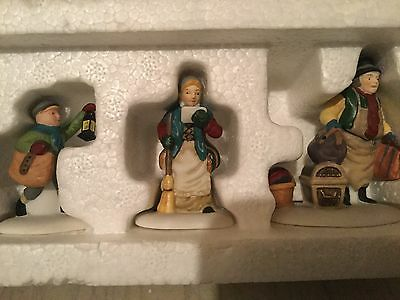 Dept 56 Dickens Village Come Into The Inn 3 Piece Set Retired Mint In Box