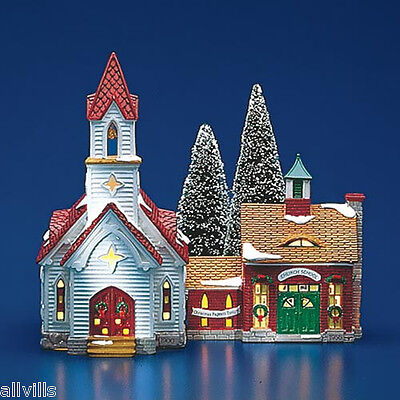 Good Shepherd Chapel & Church School 54240 Retired Dept 56 Snow Village 3 PIECES