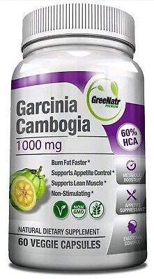 GreeNatr Garcinia Cambogia - Natural Appetite Suppressant, Fat Burner and Weight