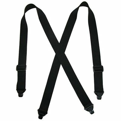 Men's Suspenders Elastic Plastic Clip-End TSA Compliant Airport Suspenders,