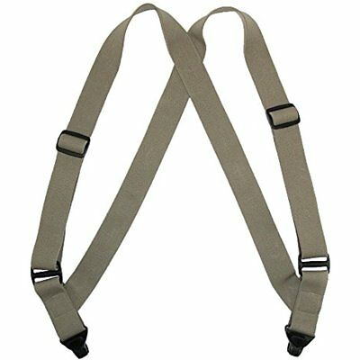 Men's Suspenders Elastic Side Plastic Clip TSA Compliant Airport Suspenders,