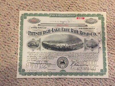PITTSBURGH and LAKE ERIE RAILROAD COMPANY..... STOCK CERTIFICATE