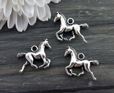 3D Pony Horse Charms 5/10/20pc Silver Charm Pony Club Animal Farm Cowgirl CH398