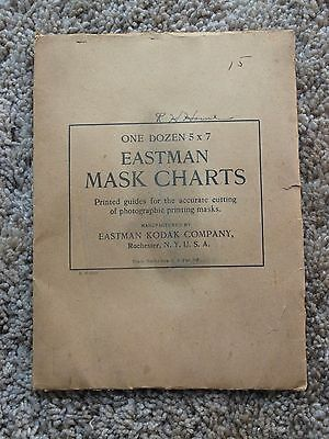 Antique Photograph Eastman Kodak Mask Charts 5 x 7 9 in Package w/ Directions