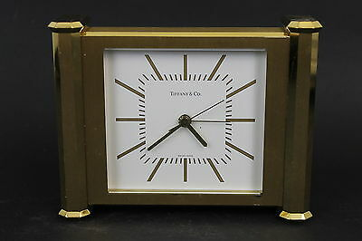 Vintage Tiifany & Co. Windham Mantle Clock in Brass Swiss Made