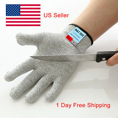 10Pair 5x Lot Safe Cut Proof Stab Resistant Food Grade Fish Filleting Gloves