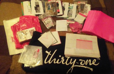 Thirty One Gifts AWESOME Consultant Lot - Tablecloth, Order Forms, & Much More!
