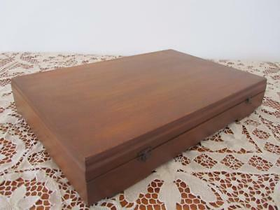 Antique Vintage Wooden Decorative Cutlery Storage Display Box Nicely Lined