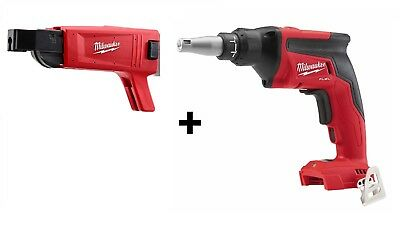 Milwaukee 2866-20 M18 FUEL Drywall Screw Gun + Collated Attachment 49-20-0001
