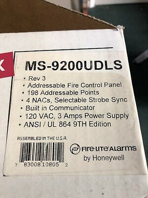 FIRE LITE MS-9200UDLS Fire Alarm Control Panel By Honeywell *New*