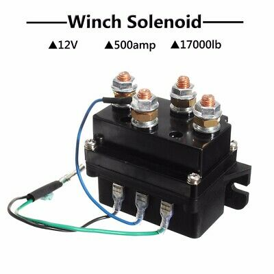 12V 500A Heavy Duty Winch Solenoid Relay Upgrade Equiv Recovery 4x4 17000lb